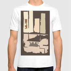 Value White Mens Fitted Tee SMALL