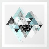 Graphic 110 (Turquoise Version) Art Print