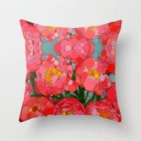 Pink Tulips On Parade! Throw Pillow