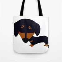 Dachshund (black And Tan… Tote Bag