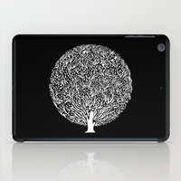 Black and White Tree iPad Case