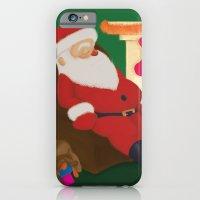 Sleeping Santa iPhone 6 Slim Case