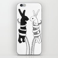 Rabbits Vs Octopus iPhone & iPod Skin