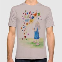 Maggie's Butterflies Mens Fitted Tee Cinder SMALL