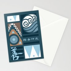 Korra and Amon Banners Stationery Cards
