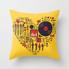 Music In Every Heartbeat Throw Pillow