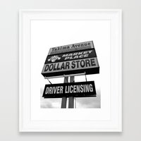 Framed Art Print featuring Yakima Ave. Plaza by Vorona Photography