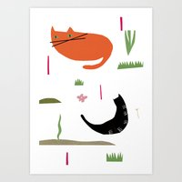 kittycats Art Print