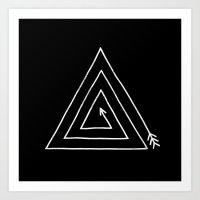 Arrow Triangle  Art Print