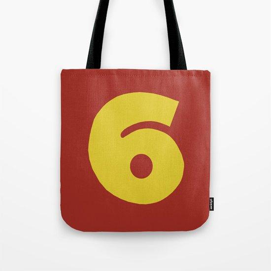 Number 6 Tote Bag