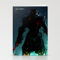 Dark Flare Stationery Cards