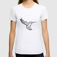 Hummingbird Womens Fitted Tee Ash Grey SMALL