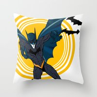 The Bat Dude Throw Pillow