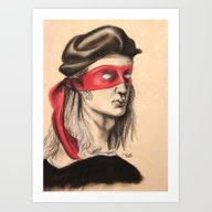 Art Print featuring Raph TMNT by Rachel M. Loose
