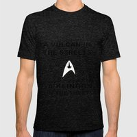 Sexy Trekkie Mens Fitted Tee Tri-Black SMALL