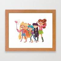 Sailor Selfie Framed Art Print