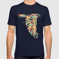 Downstroke Mens Fitted Tee Navy SMALL
