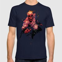 The Rider Mens Fitted Tee Navy SMALL