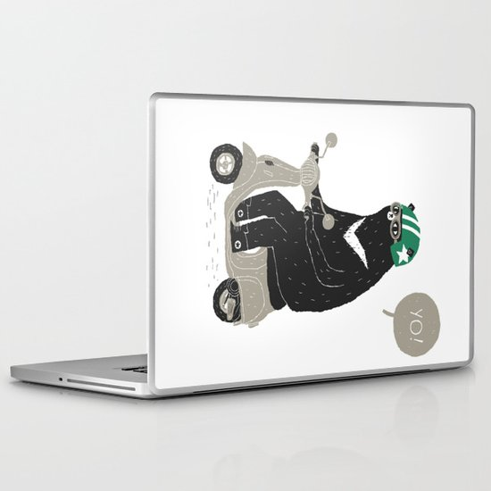 scooter bear Laptop & iPad Skin