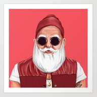 Hipstory -  Santa Claus Art Print