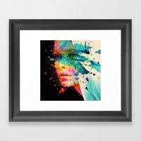 Paintflowers Framed Art Print