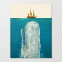 Canvas Prints featuring The Whale  by Terry Fan