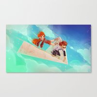Flying Around Canvas Print