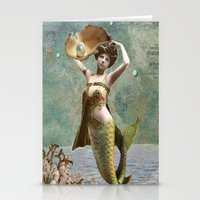She loves the sea. Stationery Cards