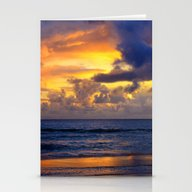 Sunset Storm Break Stationery Cards