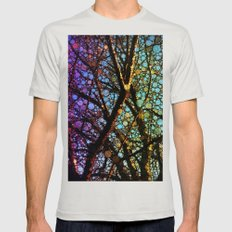 Colourful tree Mens Fitted Tee Silver SMALL
