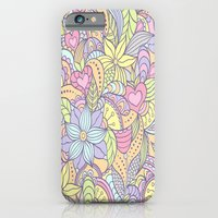 iPhone & iPod Case featuring 70's Flower Pattern by Robin Curtiss