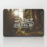 NOT GIVING UP iPad Case