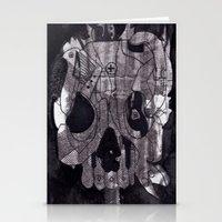 Metal Skull Stationery Cards