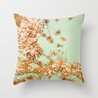 Flowering Cherry Trees Throw Pillow