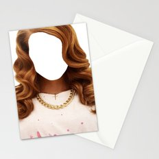 Lana Del face Stationery Cards