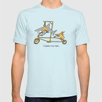 If Sharks Could Smile Mens Fitted Tee Light Blue SMALL