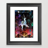 More Human Than Human Framed Art Print