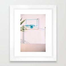 Santorini Basketball Framed Art Print