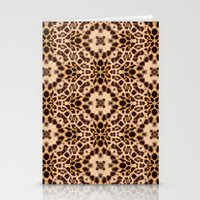 Leopard Kaleidoscope Wild Animal Print Stationery Cards