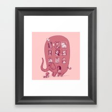 Elephant Bus - FatPanda Framed Art Print