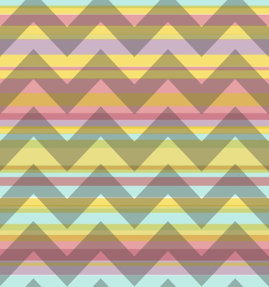 Chevron Stripe Canvas Print