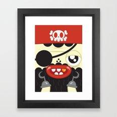 Pirate in Love Framed Art Print