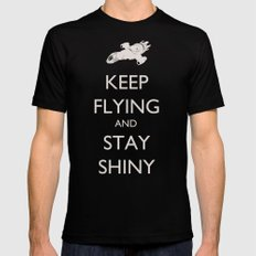 Keep Flying and Stay Shiny Mens Fitted Tee Black SMALL