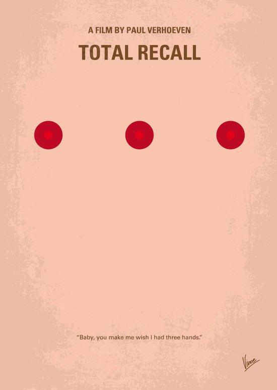 No097 My Total Recall minimal movie poster Canvas Print