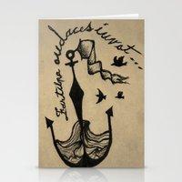 Anchor, Navy Birds Stationery Cards