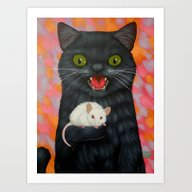 CAT AND MOUSE Art Print