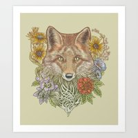 Fox Garden Art Print