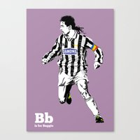 B Is For Baggio Canvas Print