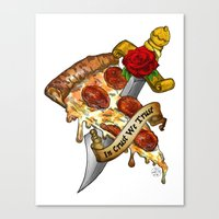 Slice Slice Baby Canvas Print