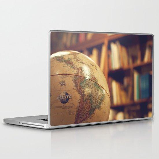 Globe Map Laptop & iPad Skin